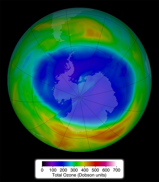 2014 Antarctic Ozone Hole Holds Steady