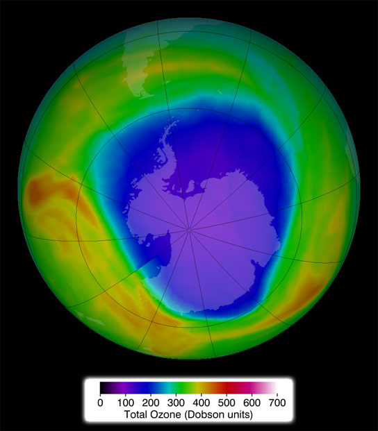 2014 Antarctic Ozone Hole Comparable to Previous Years