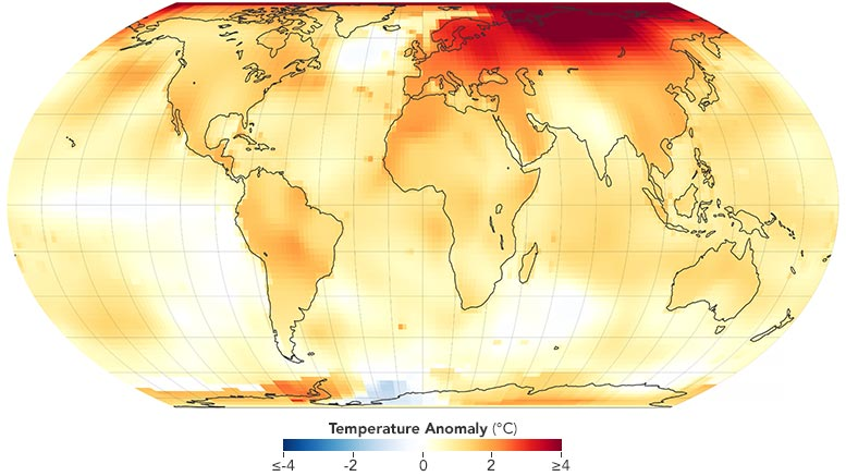 2020 Global Temperature Anomaly Annotated