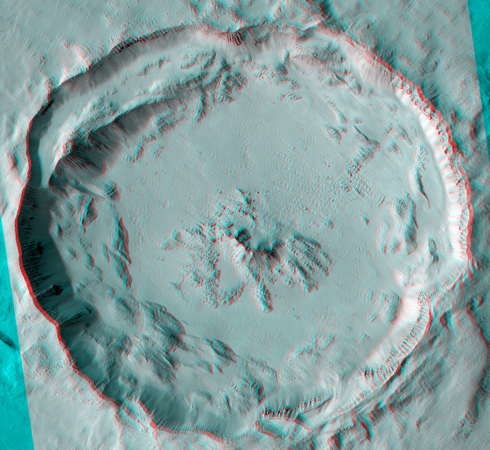 3D Image of Tooting Crater