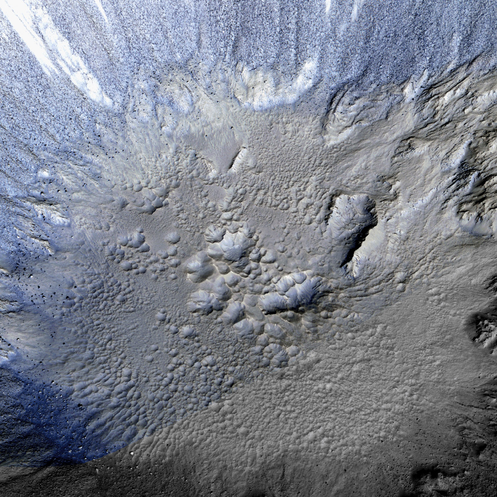 3D Model (Closeup) of Zumba Crater