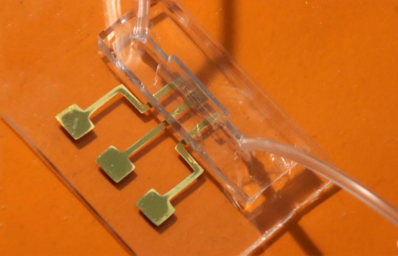 3D Printed COVID-19 Test Chip