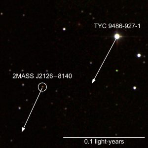 A False Color Infrared Image of TYC 9486-927-1 and 2MASS J2126