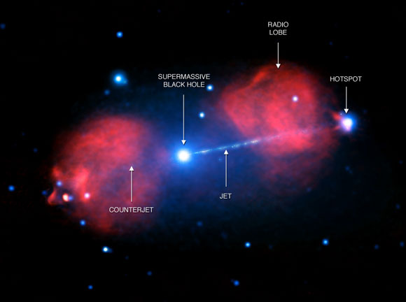 A Giant Jet Is Spotted Shooting from Galaxy Pictor A