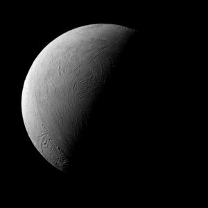 A Half-Lit View of Enceladus