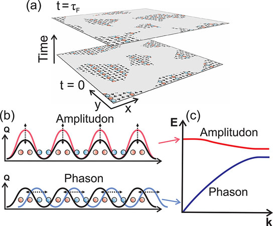 A New Method for Observing the Motion of Electron Density Waves