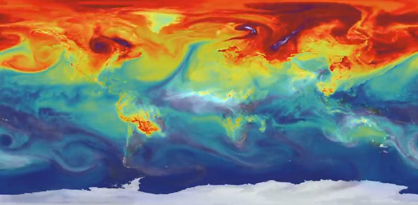 NASA Model Provides a New Look at How Carbon Dioxide in the Atmosphere Travels