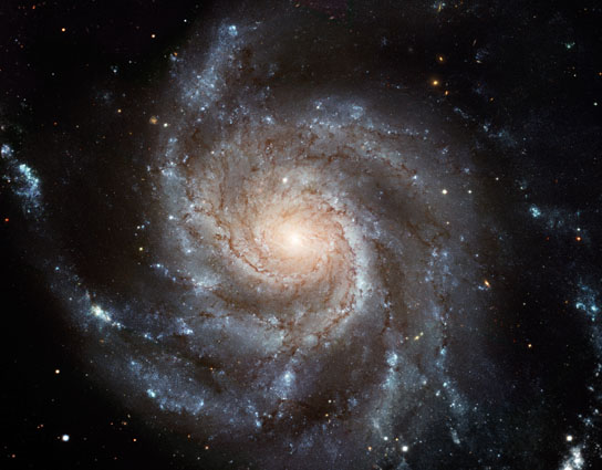 A galactic image taken by the Hubble Space Telescope