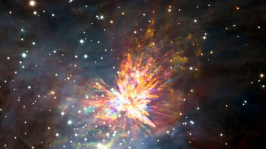 ALMA Captures Dramatic Stellar Explosion in Orion