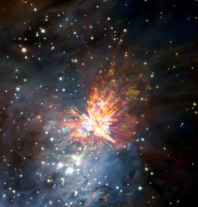 ALMA Captures Dramatic Stellar Fireworks in Orion