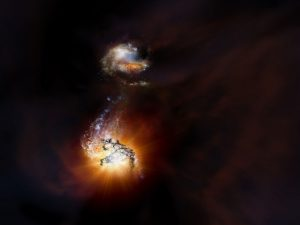 ALMA Discovers Pair of Exceptionally Rare Hyper-Luminous Galaxies