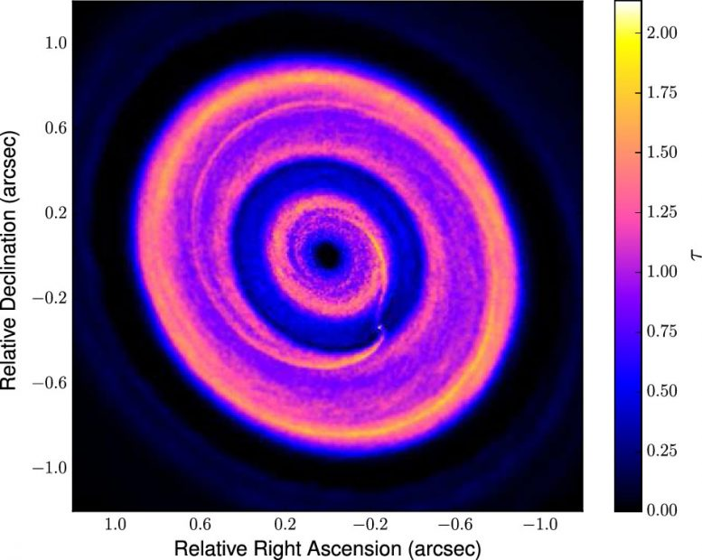 ALMA Discovers Rings and Gaps in a Developing Planetary System