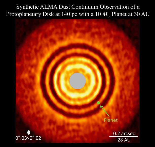 ALMA Tracks the Birth of a Super-Earth