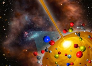 ALMA Views Stellar Cocoon with Curious Chemistry