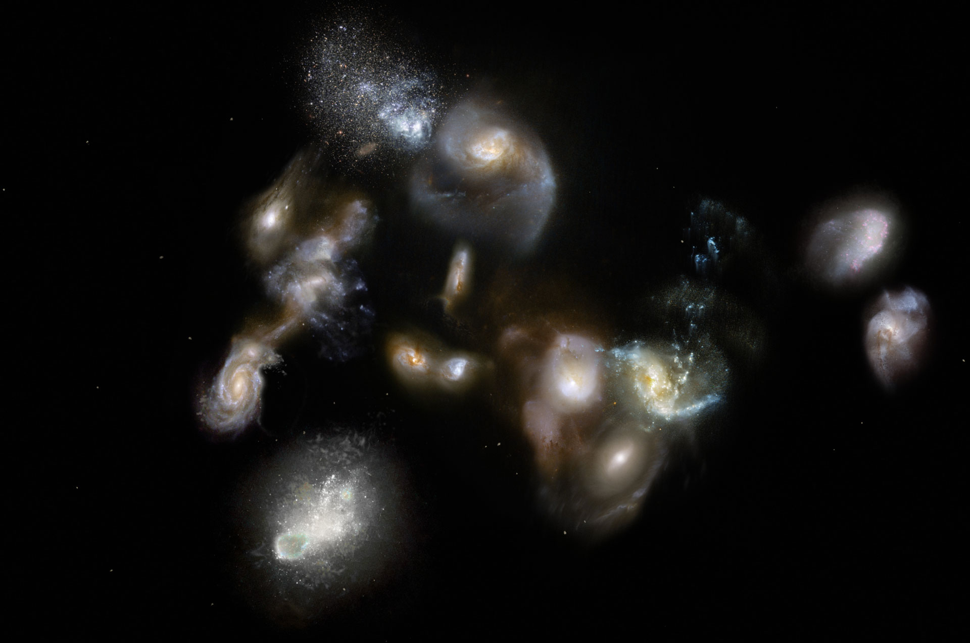 ALMA And APEX Discover Ancient Galaxy Megamerger