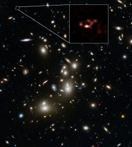 ALMA and Hubble Views of the Distant Dusty Galaxy A2744_YD4