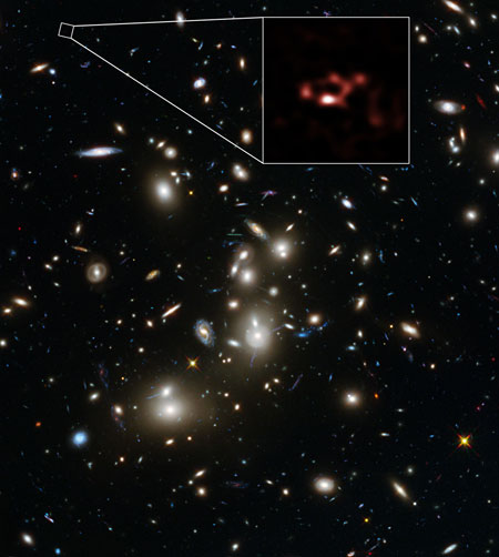 ALMA and Hubble Views of the Galaxy A2744_YD4