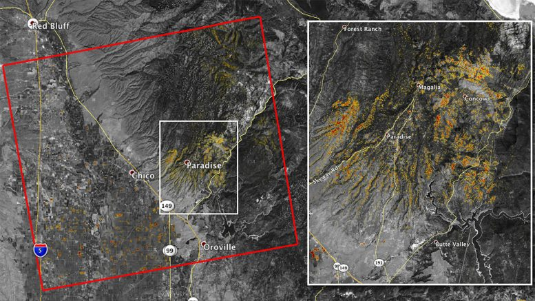ARIA Maps California Wildfires from Space