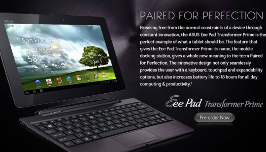 Android Honeycomb 3.2 Is Now Available for The Asus Eee Pad Transformer