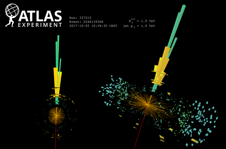 ATLAS Event Display: Highest-Momentum Monojet