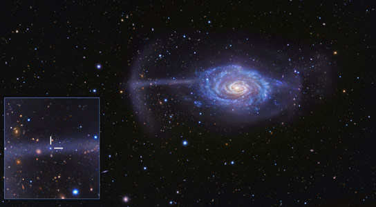 Accurate Model of How One Galaxy is Swallowing Another