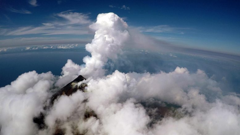 Active Vent and Gas Plume Manam Volcano