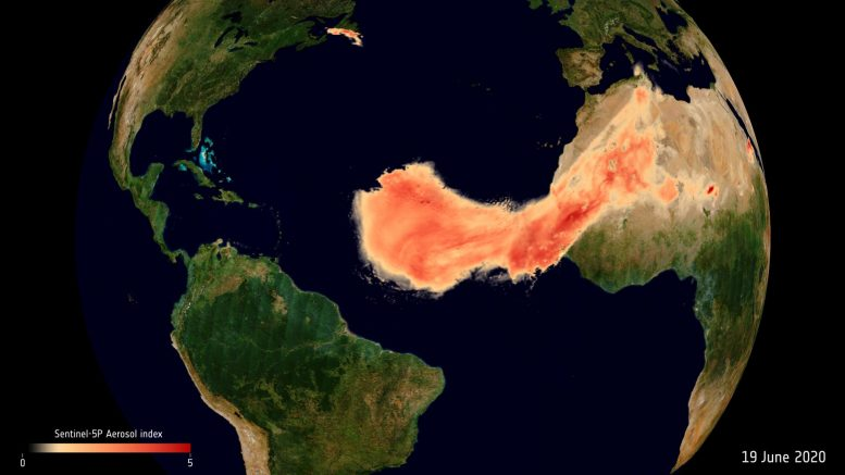 Aerosols From Saharan Dust Plume