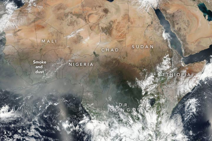 Africa VIIRS February 2020 Annotated