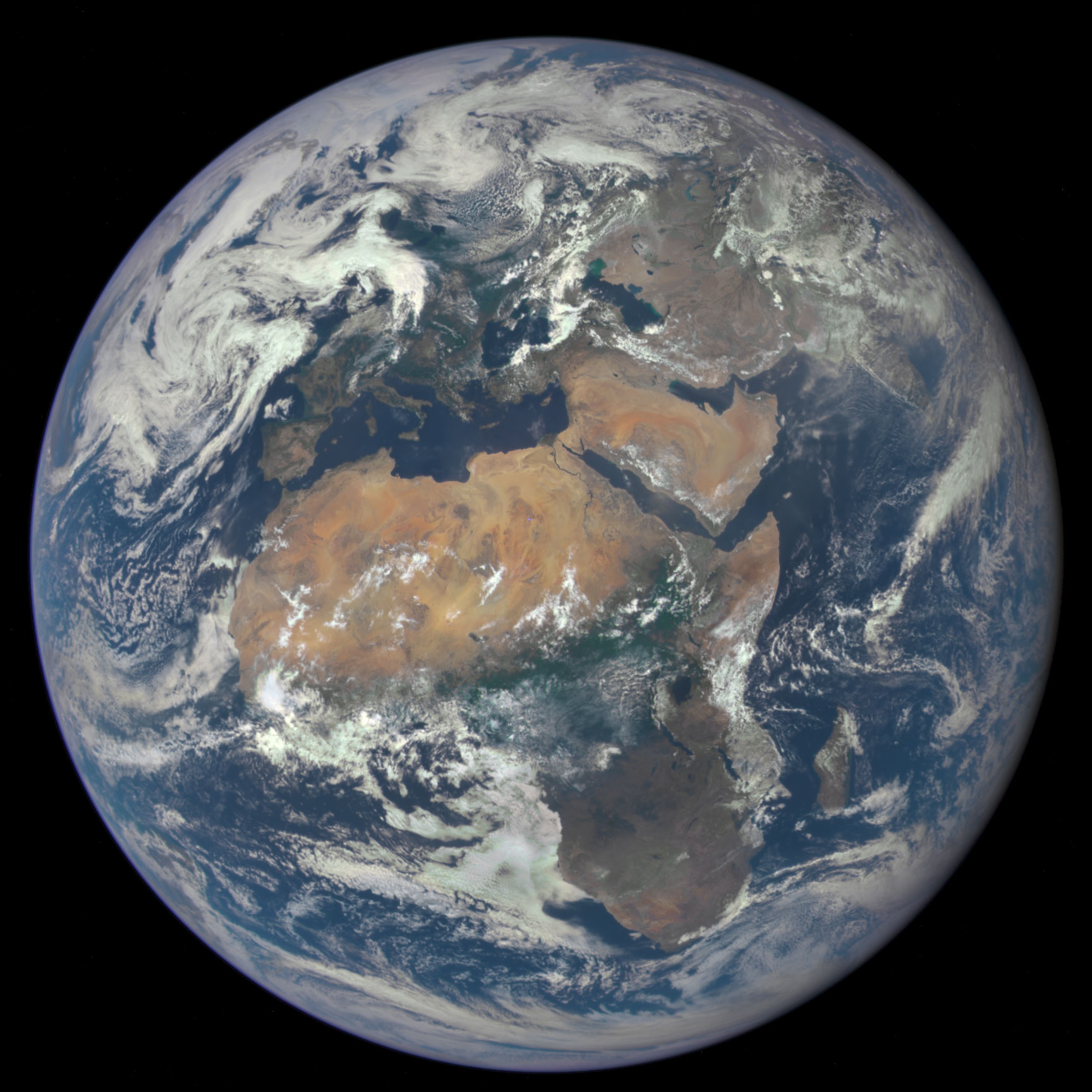 NASA DSCOVR Satellite Image of Africa and Europe