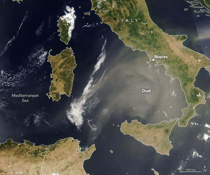 African Dust Visits Europe Annotated