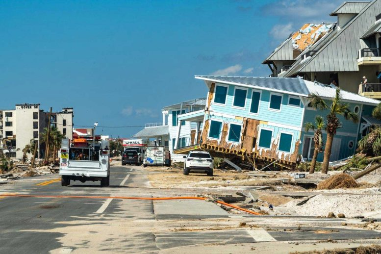 Aftermath of Hurricane Michael Making Landfall