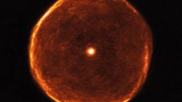 Ageing Star U Antliae Blows Off Smoky Bubble