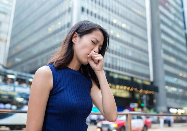 Air Pollution Coughing Concept