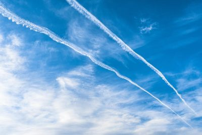 Aircraft Contrails Clouds