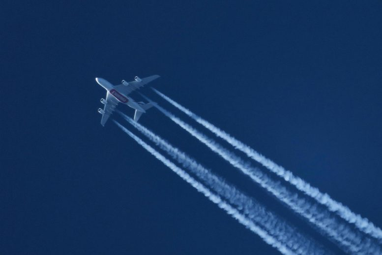 Airlane Leaving Contrails
