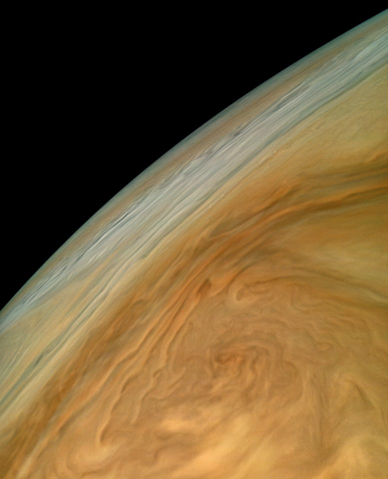 Amazing Juno Image of Jupiter's North Equatorial Belt