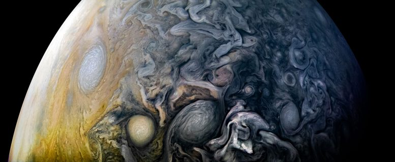Amazing Juno Image of the Intricate Clouds of Jupiter