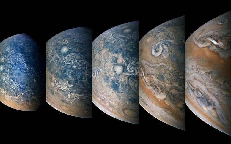 Amazing Time Lapse Sequence of Jupiter's North