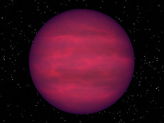An artist's impression of a brown dwarf similar to J1047+21
