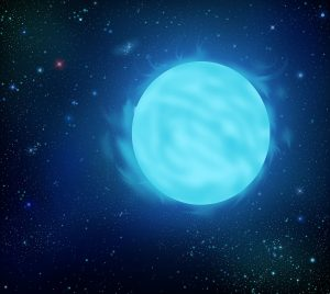 An illustration of the Wolf-Rayet star R136a1, the most massive star known