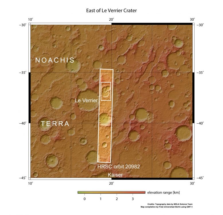 Ancient Crater Triplet on Mars in Context