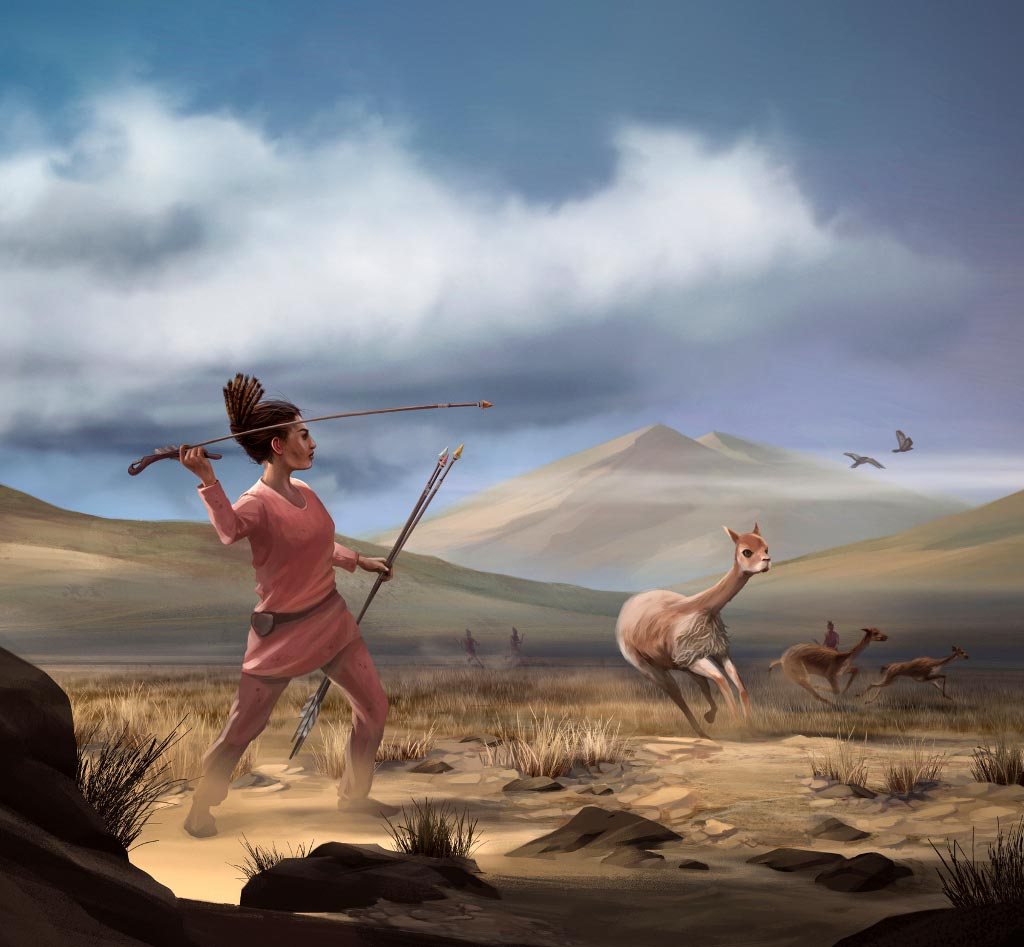 Prehistoric women may have hunted as much as men