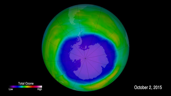 Annual Antarctic Ozone Hole is Larger