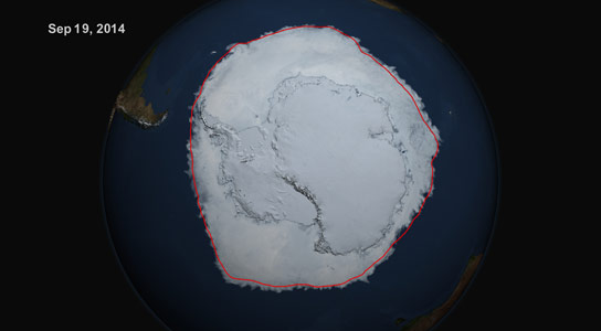 Antarctic Sea Ice Reaches New Maximum