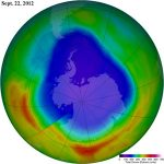 Antarctic ozone hole measured this year was the second smallest in the last 20 years
