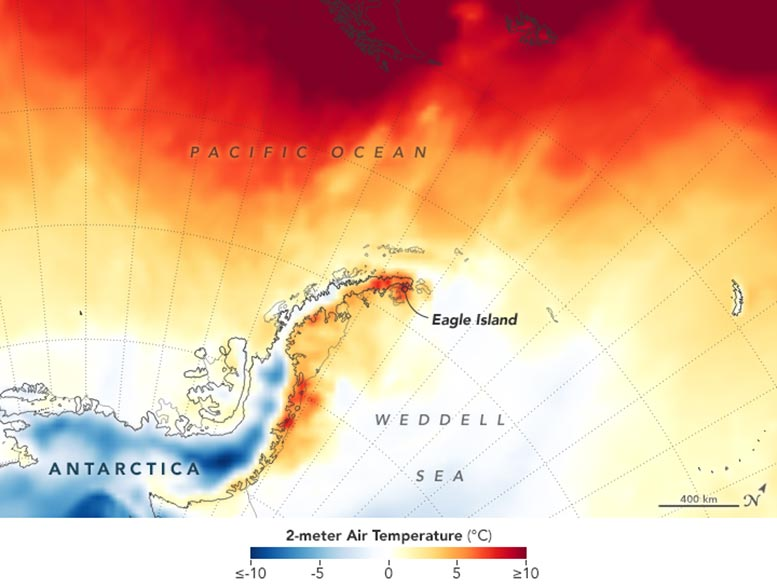Antarctica Air Temperature February 9, 2020