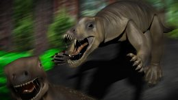 Anteosaurus Attacking
