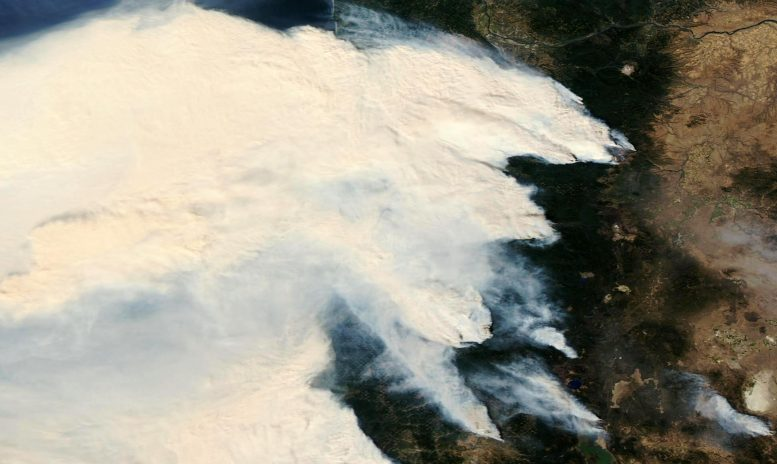 Aqua Satellite Oregon Wildfires September 2020