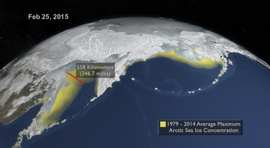 Arctic Sea Ice Maximum Annual Extent Is Lowest On Record