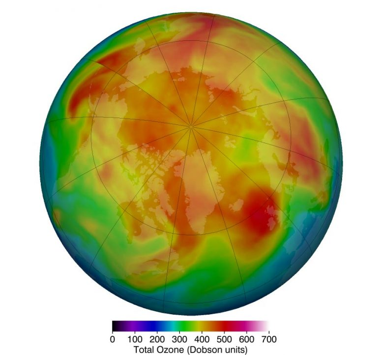 Arctic Stratospheric Ozone March 2019
